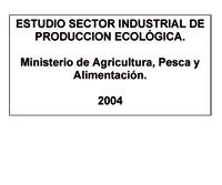 Cover of Estudio sector industrial de producción ecológica
